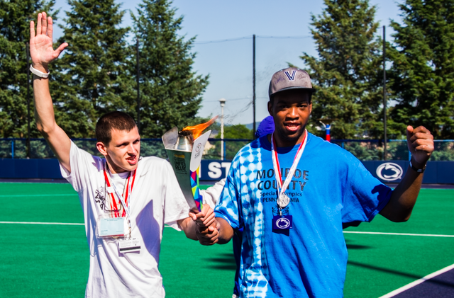 Sue Paterno Honored by Athletes as Special Olympics Flame Extinguished