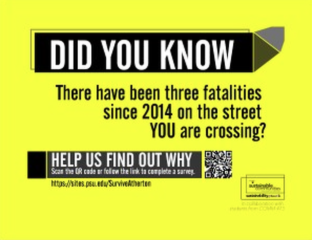 Students Campaign to Raise Awareness for Pedestrian and Vehicle Safety