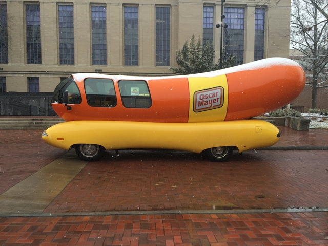 Ketchup and Mustard: Penn State's Relationship with the Oscar Mayer Wienermobile