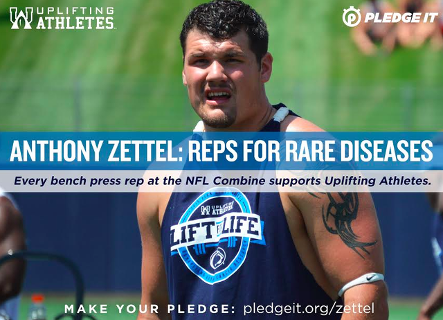 Penn State Football: Zettel To Use Combine Performance To Raise Money For Disease Research