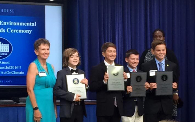 Park Forest Students Receive Environmental Award at White House