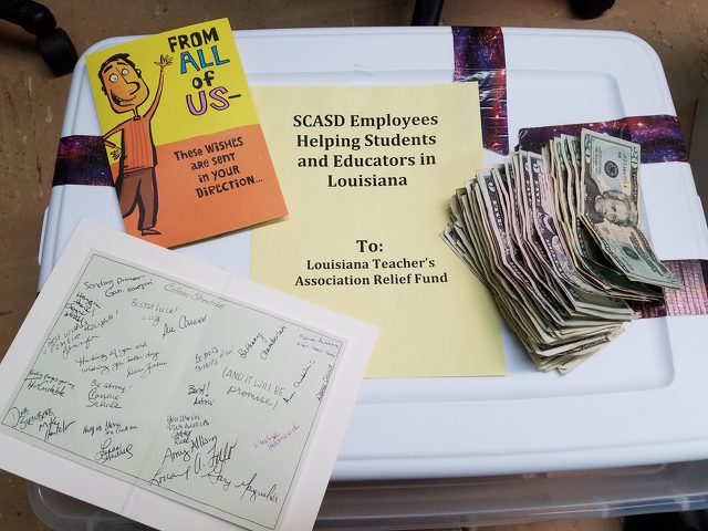 Local Teachers Raise $1,000 for Flood-Ravaged Louisiana Schools