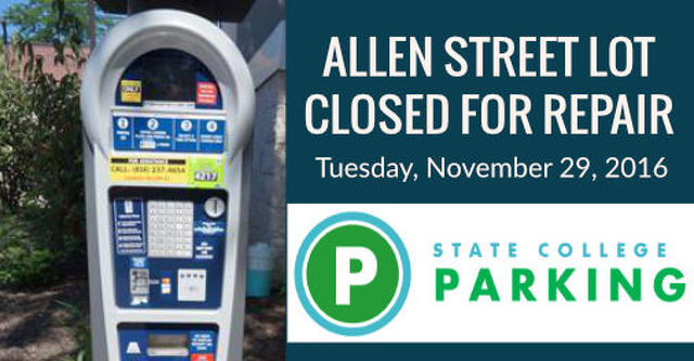 Allen Street Lot to Be Closed for Repairs