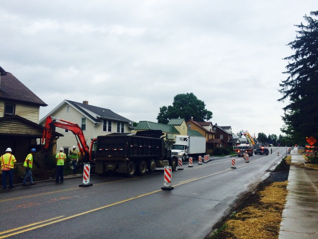 West College Avenue Reopens After Gas Leak