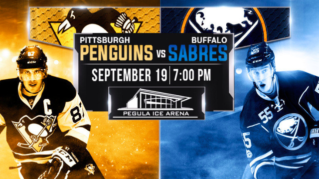 Sabres, Penguins set for preseason clash at Pegula Ice Arena