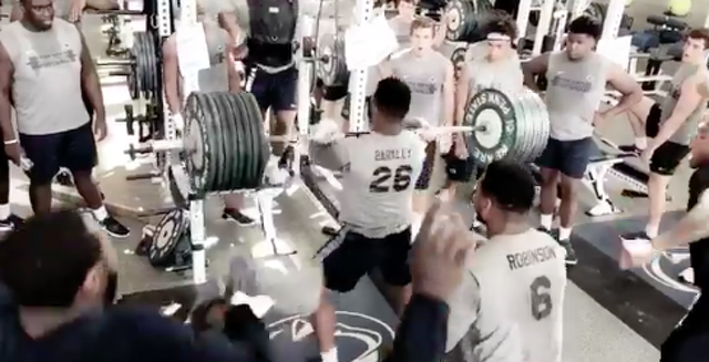 Penn State Football: Saquon Barkley Power Cleans 405 Pounds