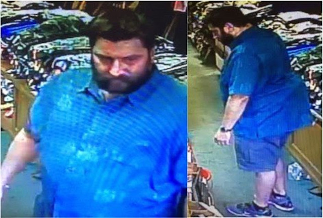 Police Looking for Suspect in Theft from Jim's Army & Navy