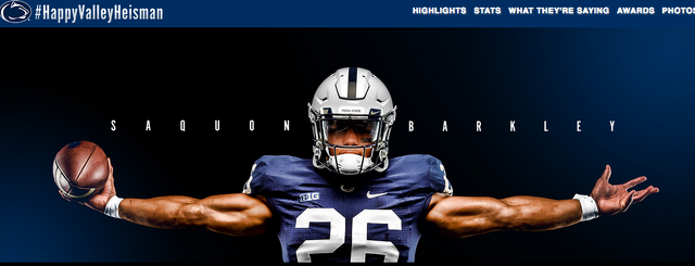 Barkley No. 1 in NCAA All-Purpose Yards as Penn State Launches #HappyValleyHeisman Campaign
