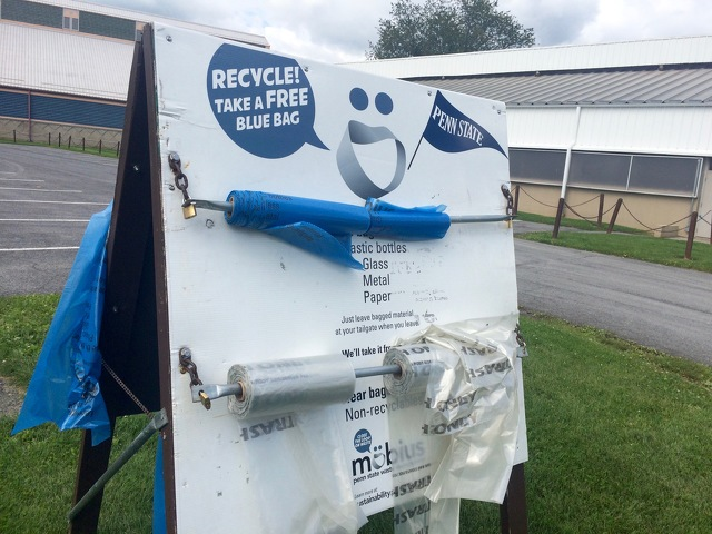 CCRRA Wants Penn State Fans to Stop Filling Recycling Bags with Non-Recyclable Trash