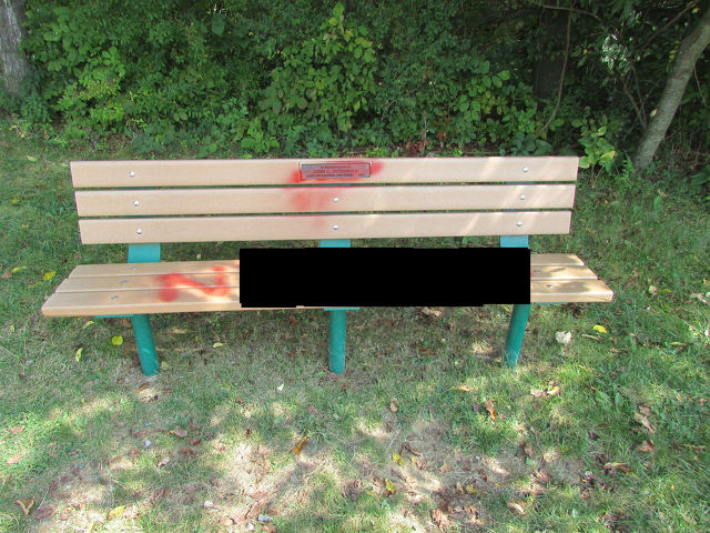 Police Investigating After Racist Slur Found Painted on Tudek Park Bench