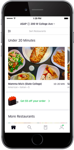 UberEATS Launches in State College