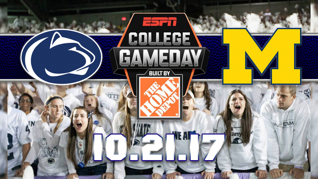 College GameDay Will Return to Penn State for White Out Game