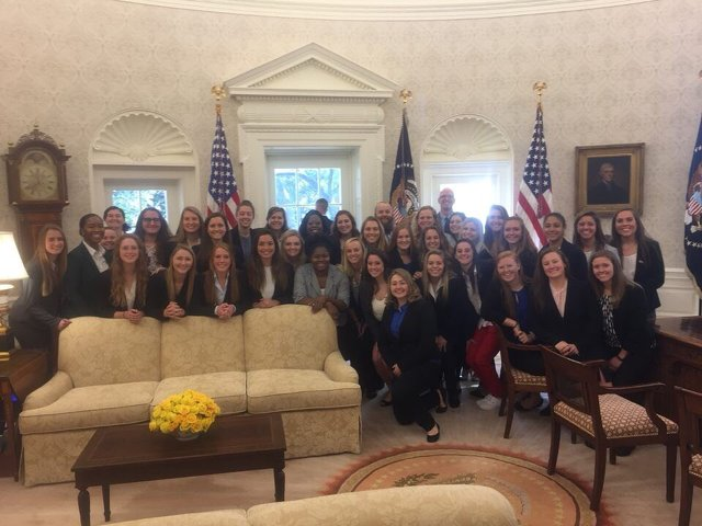 NCAA Champs Visit the White House