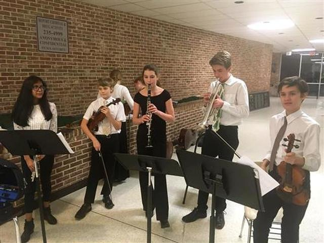 Middle School Musicians' Practice-A-Thon Raises Money for Hearts For Homeless