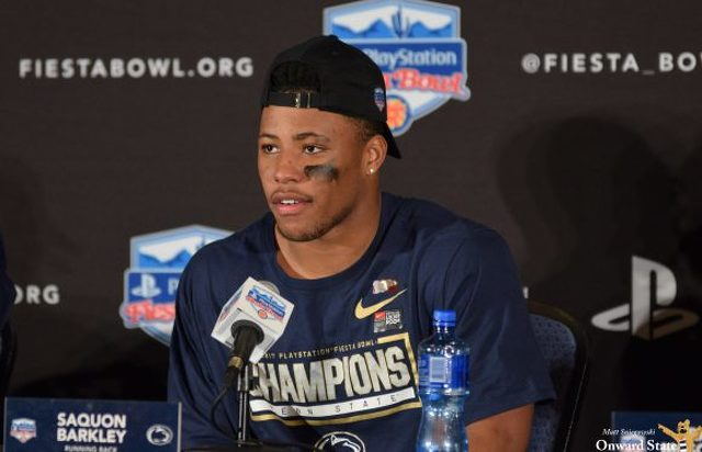 Saquon Barkley Signs With Jay Z's Roc Nation Sports
