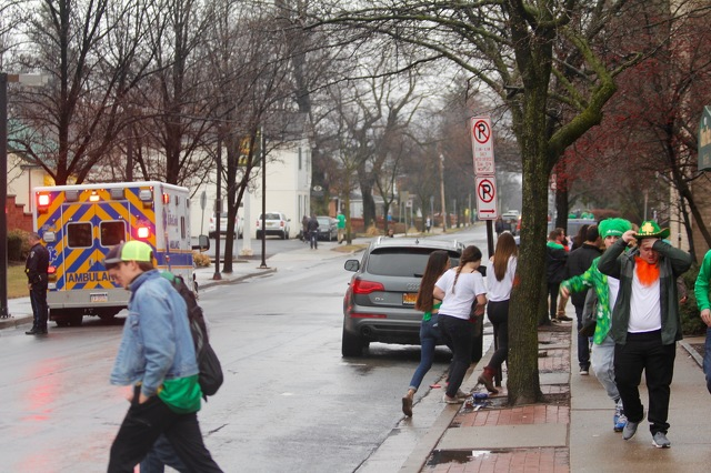 State Patty's Day Keeps Police, EMS and Medical Center Busy