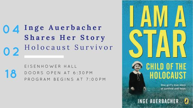 Holocaust Survivor Inge Auerbacher to Speak at Penn State