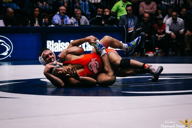 Nickal's pin clinches championship for Penn State