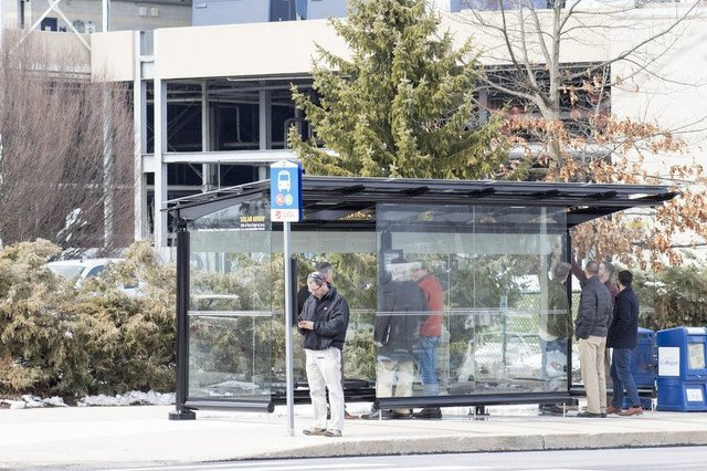 Solar-Powered Bus Stop Offers Real-Time CATA Map, Charging Stations