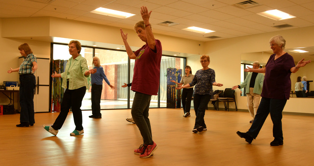 Active Adult Center Seniors Line Up to Share the Joy of Dance