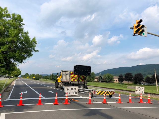 Sinkhole Closes Part of Road Near Nittany Mall
