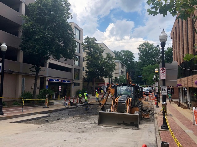 Road Work Continues After Water Main Break on Pugh Street