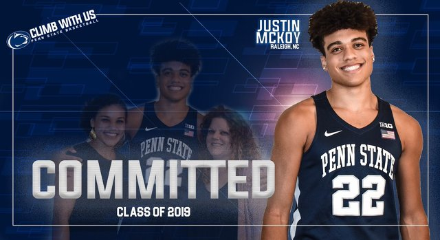 Penn State Basketball: Small Forward Justin McKoy Commits to Nittany Lions
