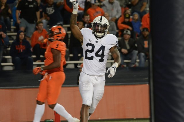 Miles Sanders, Penn State run over IL, win 63-24