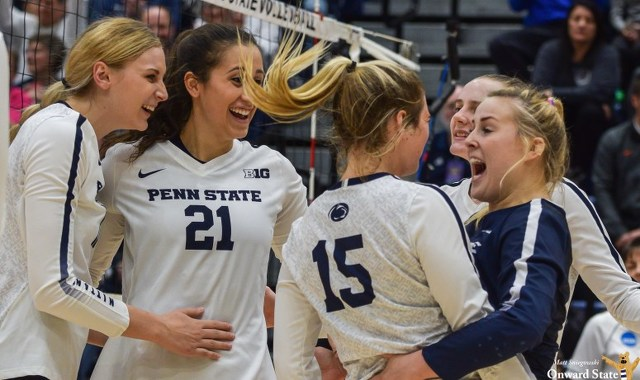 Penn State Women's Volleyball Sweeps Syracuse to Reach Sweet 16