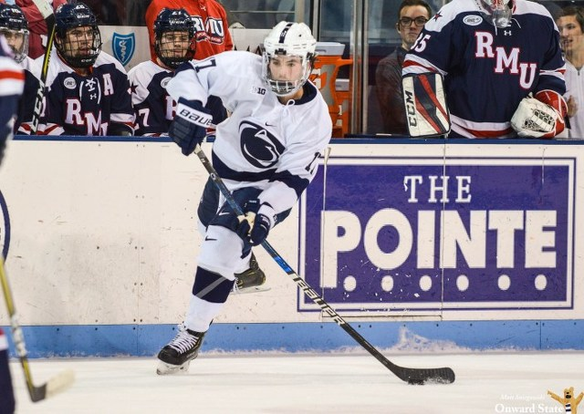 State College Pa Penn State Hockey Barratt Scores Game Winning