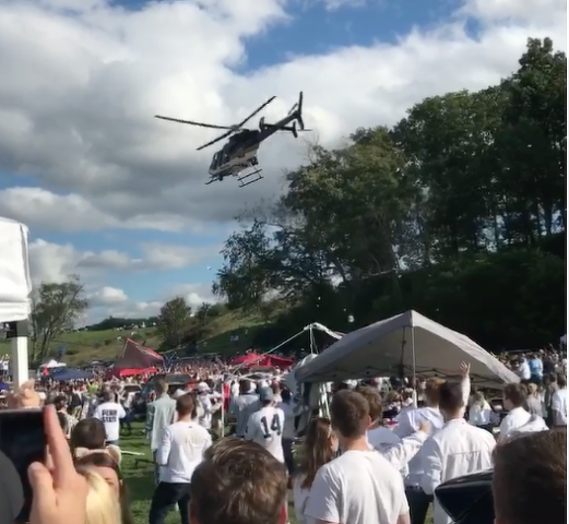 Four Charged with Selling Alcohol at Tailgate That Led to Police Helicopter Incident