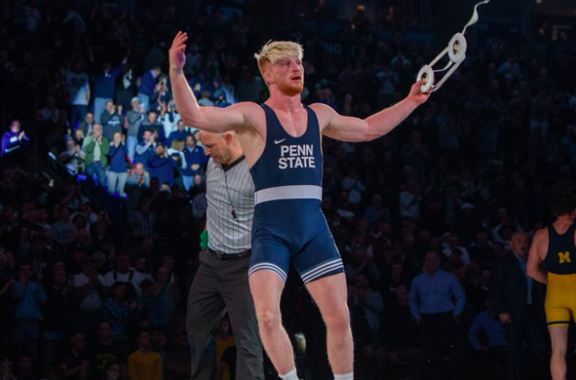 No. 1 Penn State Wrestling Caps Off Undefeated Season With Buffalo Pin Party