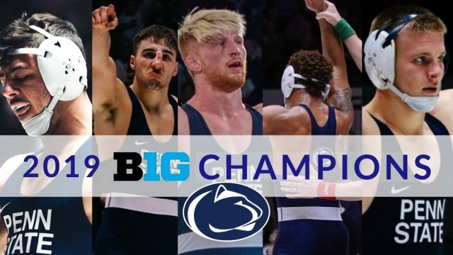 Penn State Wrestling Wins Big Ten Title, Crowns Four Champs