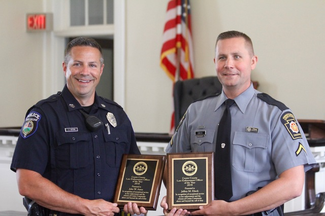 Centre County Honors Law Enforcement Officers of the Year