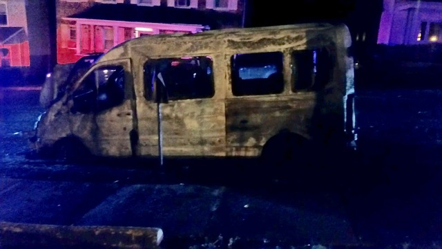 Police Say Man Admitted to Setting Sheriff's Van on Fire