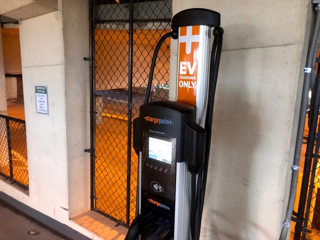 Electric Vehicle Charging Stations Added to Beaver Avenue Garage