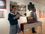 Students comment on Abstraction Show artwork