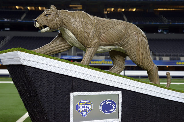 Goodyear Unveils Nittany Lion Tire Art Statue as Part of Cotton Bowl Tradition