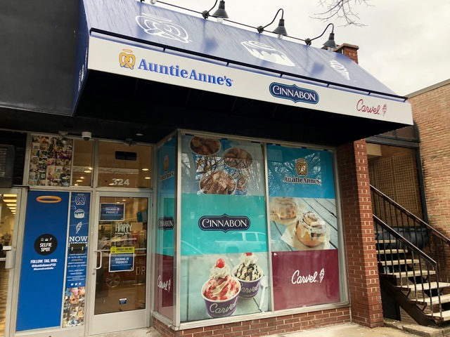 Auntie Anne's, Cinnabon and Carvel Store to Open Friday in State College