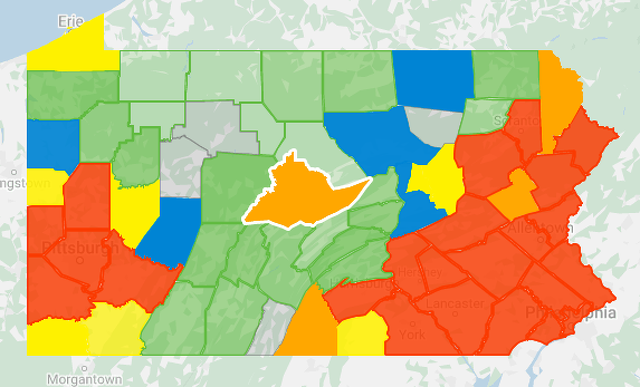 Centre County Up to 32 COVID-19 Cases, Statewide Total Surpasses 8,000