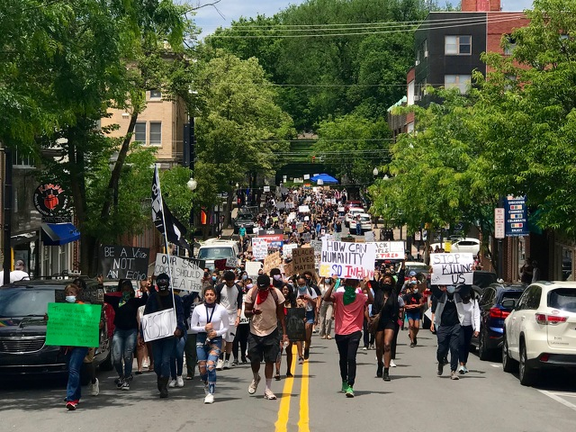 Protestors Gather in Downtown State College for Third Consecutive Week