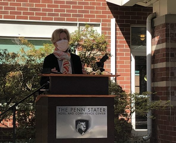 Visiting Penn State, Birx Stresses Limiting 'Silent Spread' of COVID-19