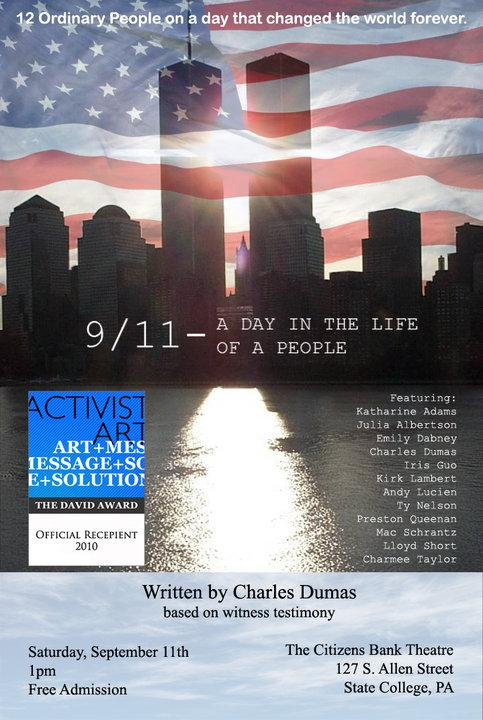 '9/11' Play Scheduled for Downtown State College; Admission Free to Public