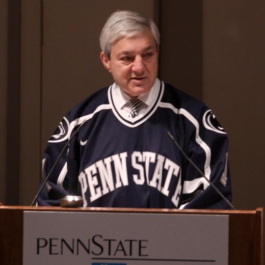Penn State Aims to Become National Model with Hockey Program, Spanier Says