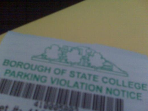 A State College parking ticket