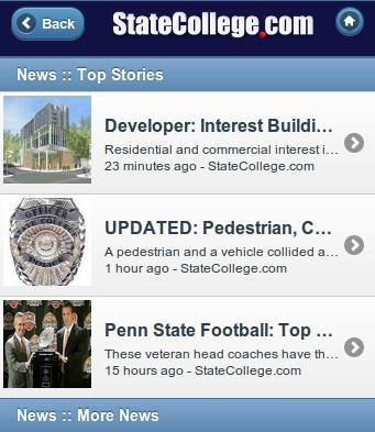 StateCollege.com Strengthens, Relaunches Mobile Site