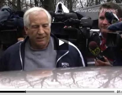 Sandusky Arrested on 12 New Counts, Jailed in Centre County