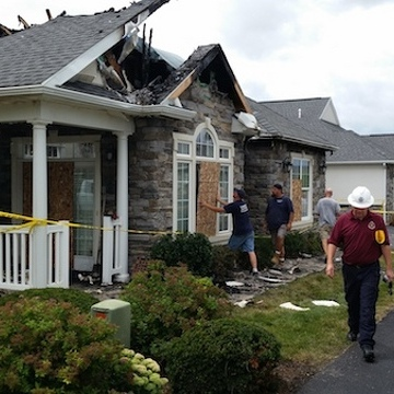 Lightning Bolt Destroys a Home but Builds Community Spirit