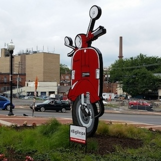 #BigVespa Drives Art onto State College Street Corner