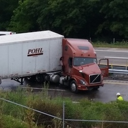 Truck Accident Closes Westbound Lanes on Route 322